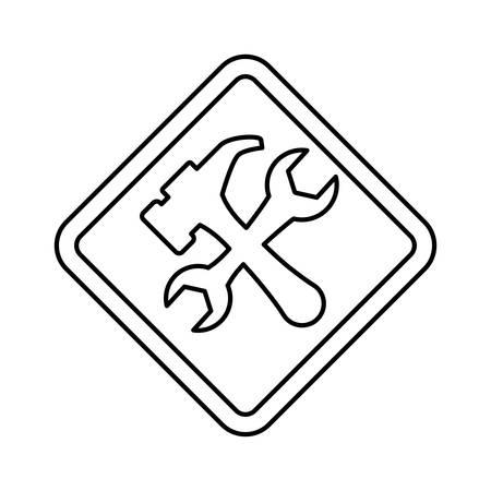 vector sign under construction: Under construction road sign icon vector illustration graphic design Illustration