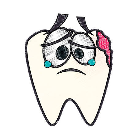 comunicacion oral: Cuidado dental icono de dibujos animados ilustración vectorial diseño gráfico