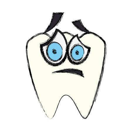 Dental care cartoon icon vector illustration graphic design