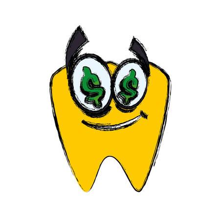 premolar: Dental care cartoon icon vector illustration graphic design
