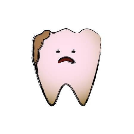 comunicacion oral: Dental care cartoon icon vector illustration graphic design