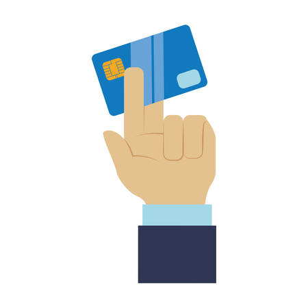 cash money: Bank credit card icon vector illustration graphic design