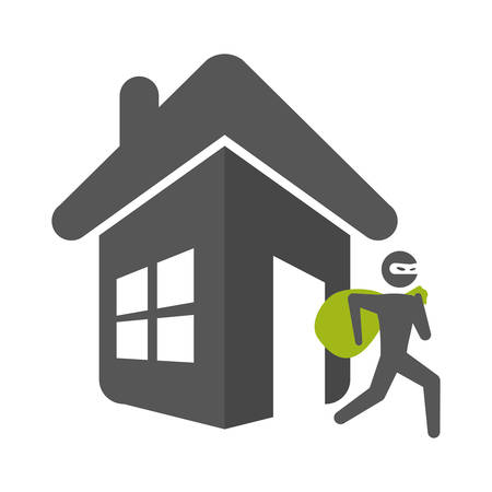 office theft: Home insurance symbol icon vector illustration graphic design