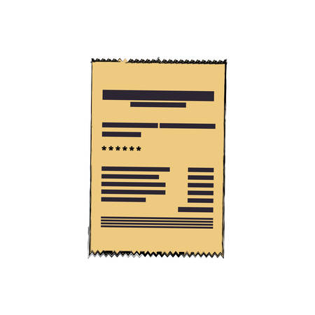 Invoice sheet document icon vector illustration graphic design Illustration