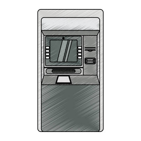 withdrawing: ATM bank machine icon vector illustration graphic design Illustration