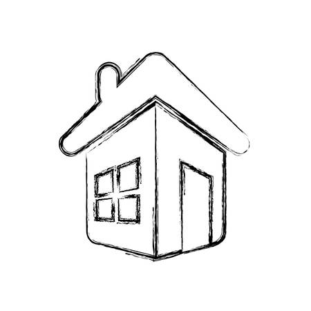 real state: Home real state icon vector illustration graphic design