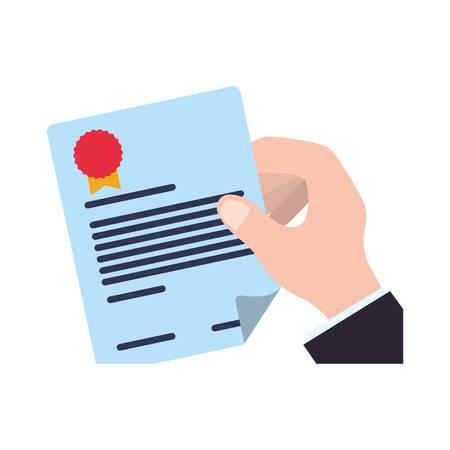 Contract document icon vector illustration graphic design Vektorové ilustrace