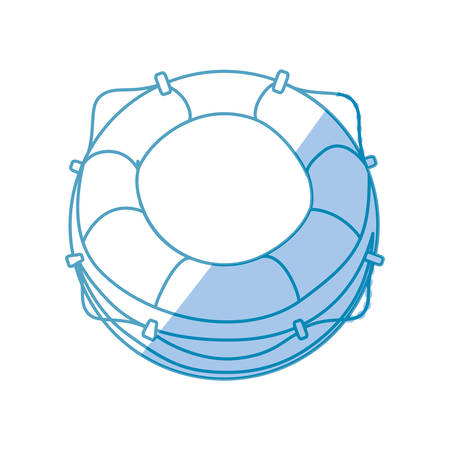 Nautical life ring icon vector illustration graphic design