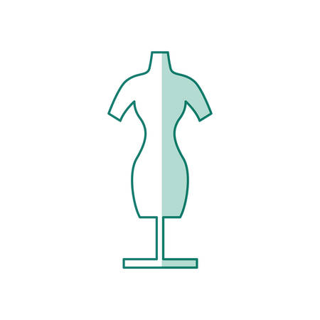 Manikin model clothes blue icon vector illustration graphic design Illustration