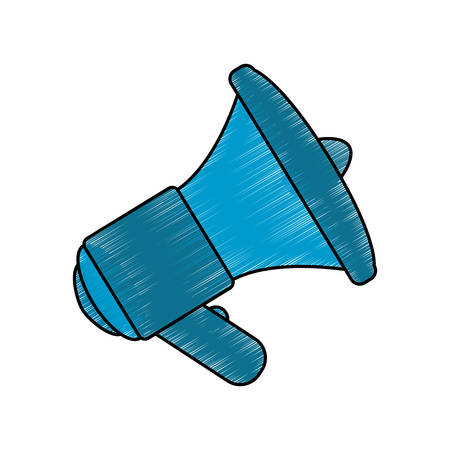Bullhorn isolated object scribble icon vector illustration