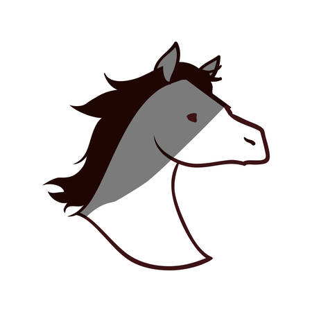 Horse head silhouette icon vector illustration graphic design