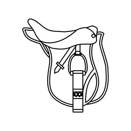 Horse riding equipment accesory icon vector illustration graphic design