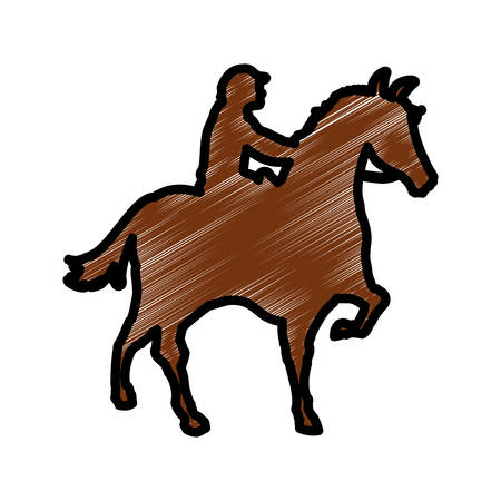 Horse riding equestrian sport icon vector illustration graphic design