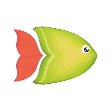 Fish sea colored symbol icon vector illustration graphic design