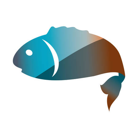 fish tail: Fish sea animal symbol icon vector illustration graphic design Illustration