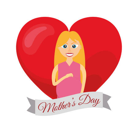 happy woman: mothers day card mom pregnancy