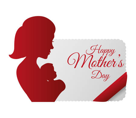 happy woman: happy mothers day invitation card
