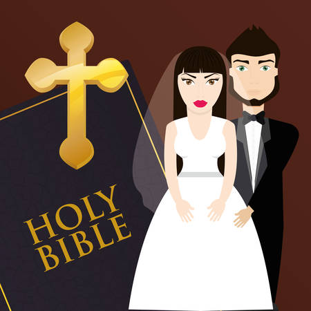 get married couple bible card invitation