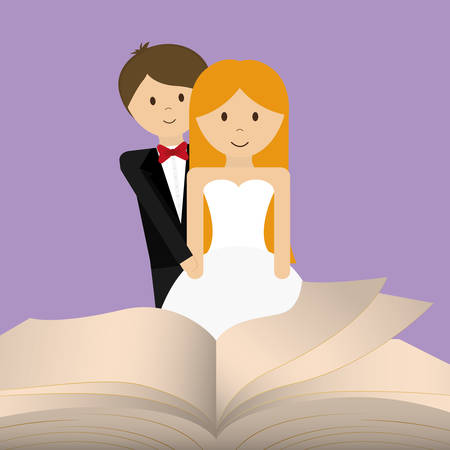 get married couple bible card Illustration