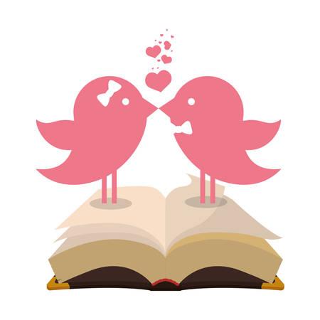 bird couple married bible card Illustration