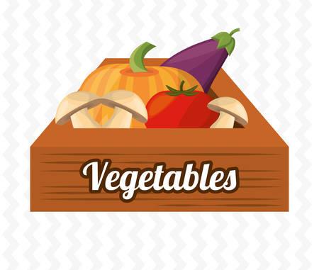 Boite en bois de légumes harve l'image Banque d'images - 76430275
