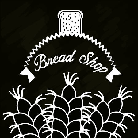 bread shop wheat product poster Illustration