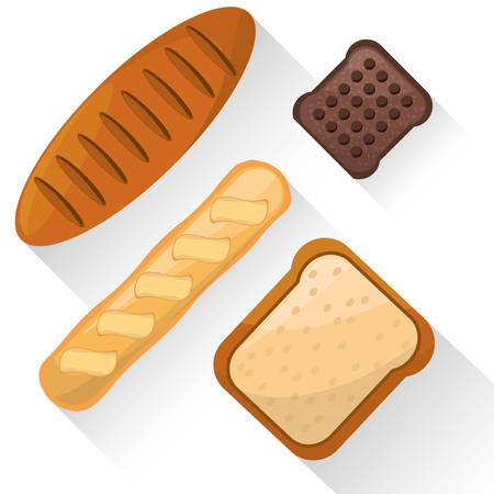 bread food product various image vector illustration eps 10