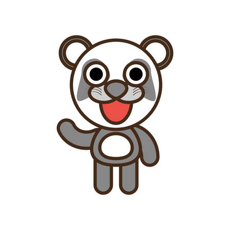 funny baby: cute panda toy kawaii image vector illustration eps 10