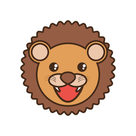 cute dog: cute lion face style
