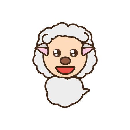 sheep baby animal design