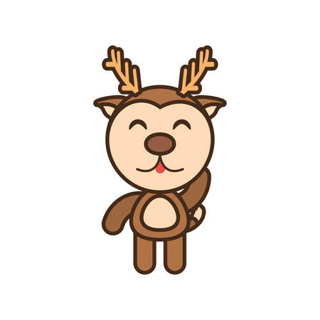 baby reindeer animal funny image vector illustration eps 10