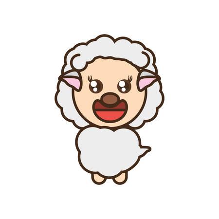 funny baby: cute sheep toy kawaii image vector illustration eps 10
