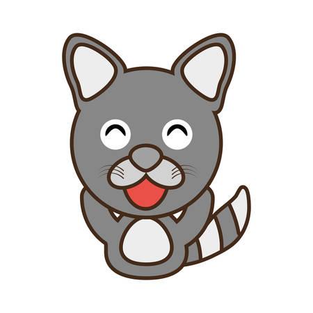 funny baby: raccoon baby animal funny image vector illustration eps 10
