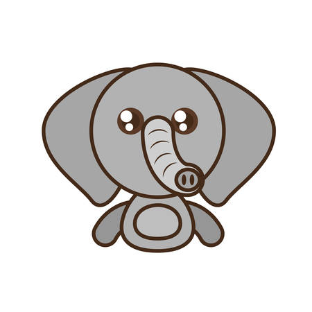 mother and baby: elephant baby animal kawaii design vector illustration eps 10