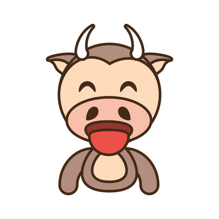 cow baby animal funny image vector illustration eps 10