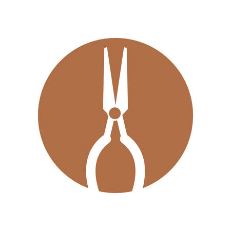 pinchers: pliers tool isolated icon vector illustration design vector illustration design