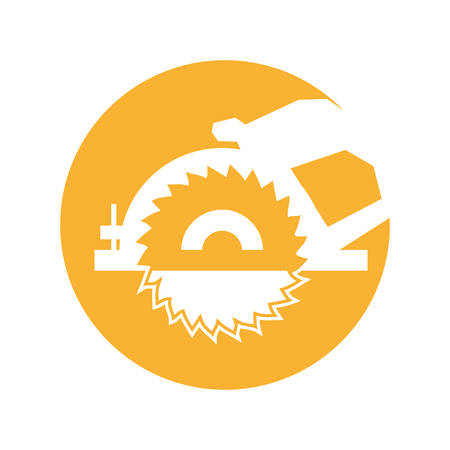 pinchers: electric saw isolated icon vector illustration design