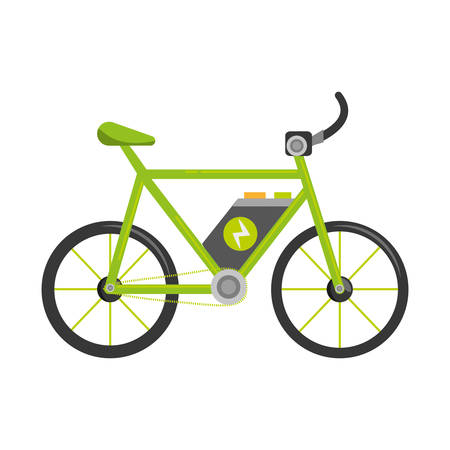bicycle ecology vehicle isolated icon vector illustration design