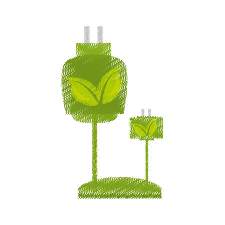 wire: Ecological energy alternatives icon vector illustration design Illustration