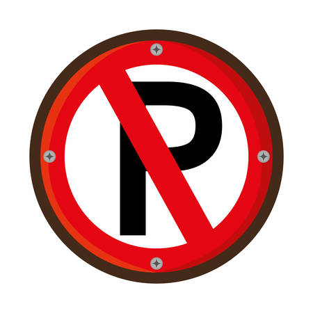 parking is prohibited: parking prohibited traffic signal vector illustration design Illustration