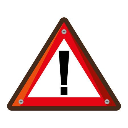 symbol traffic: alert symbol traffic signal vector illustration design