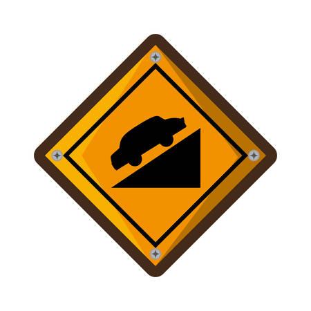 high decline traffic signal vector illustration design Illustration