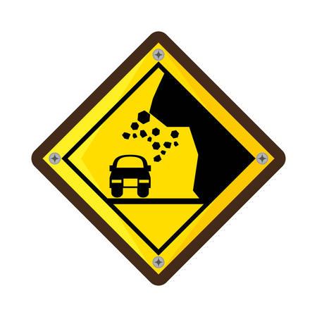 High risk of collapse vector illustration design