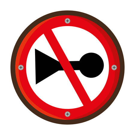 restricted area sign: do not whistle traffic signal vector illustration design Illustration