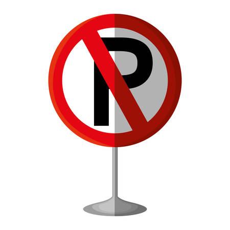 parking prohibited traffic signal vector illustration design Ilustrace