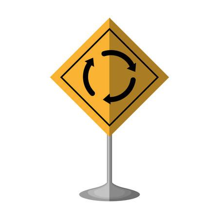 arrows guide traffic signal vector illustration design