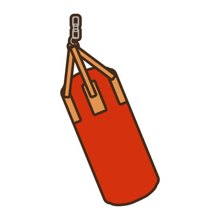 punching bag isolated icon vector illustration design