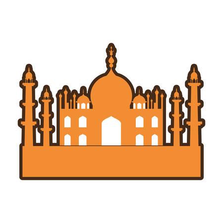 india taj mahal building vector illustration design Illustration
