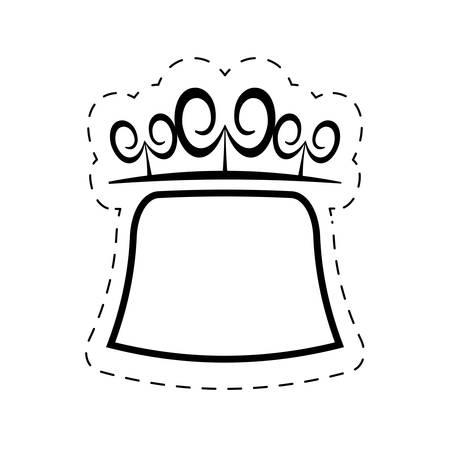 square swirls decorative ornate cut line vector illustration eps 10