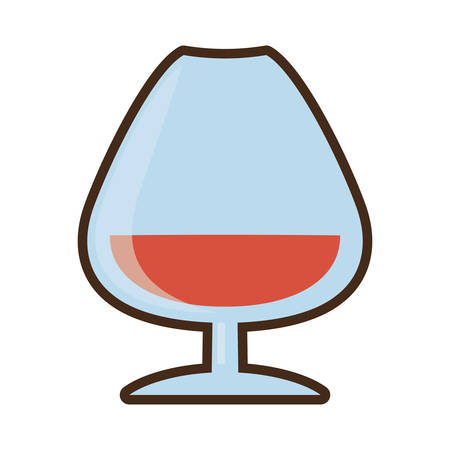cartoon cognac glass cup drink vector illustration eps 10 Illustration